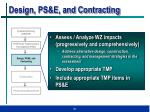 design ps e and contracting
