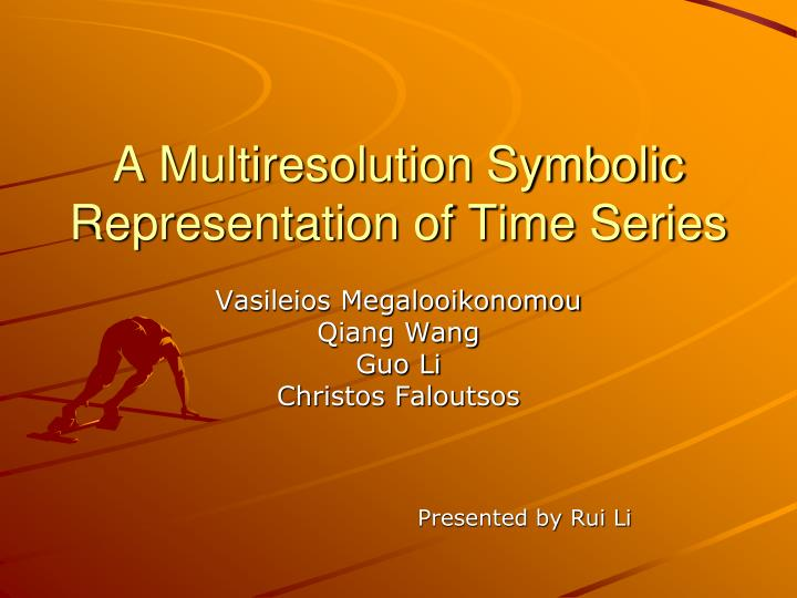 a multiresolution symbolic representation of time series n.
