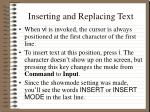 inserting and replacing text1