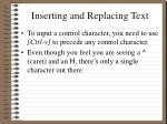 inserting and replacing text8