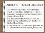 quitting vi the last line mode