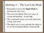 quitting vi the last line mode1