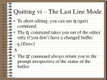 quitting vi the last line mode2