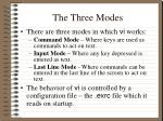 the three modes