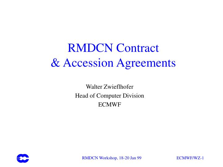 rmdcn contract accession agreements n.