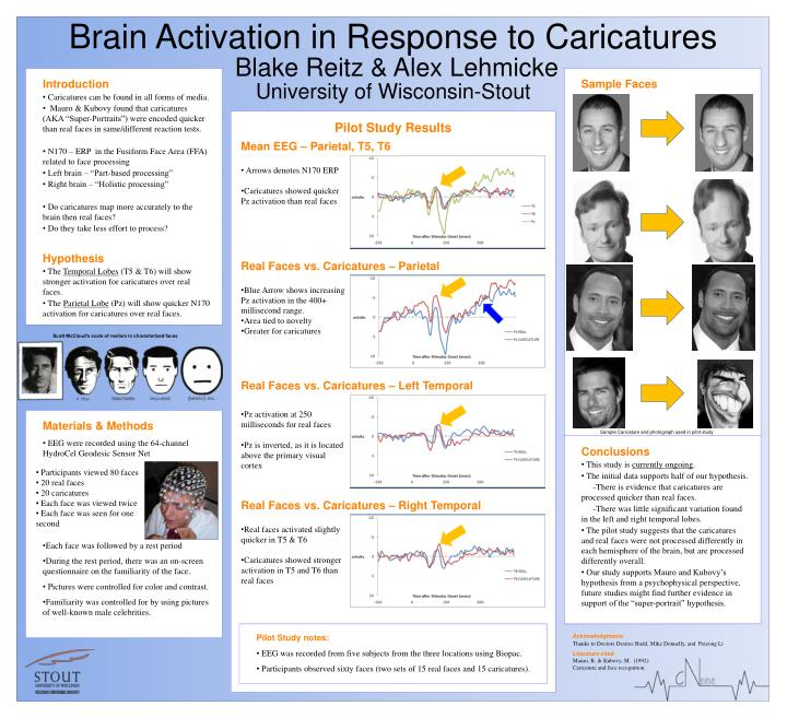 Brain activation in response to caricatures blake reitz alex lehmicke university of wisconsin stout