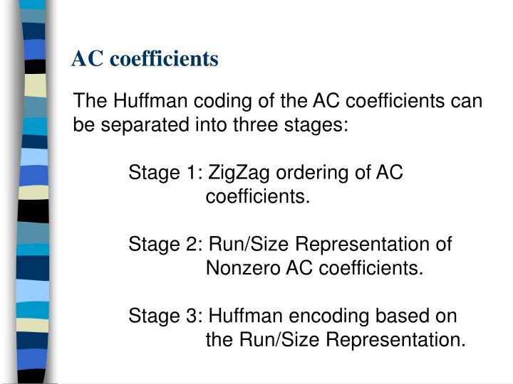 AC coefficients