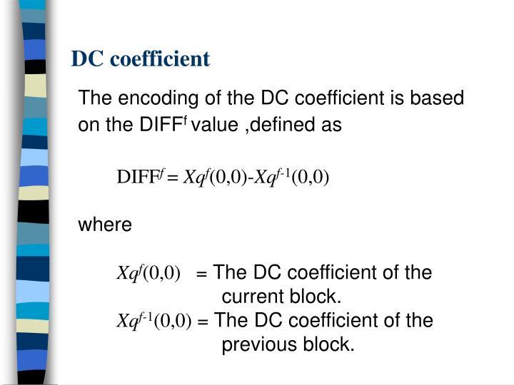 DC coefficient