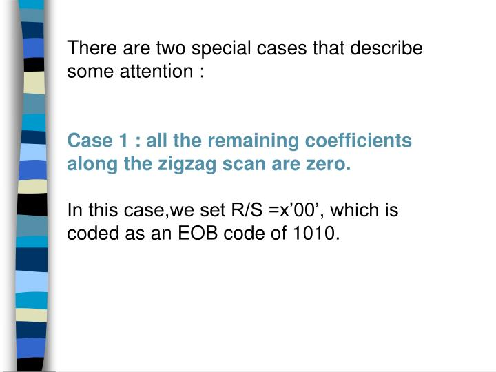 There are two special cases that describe some attention :
