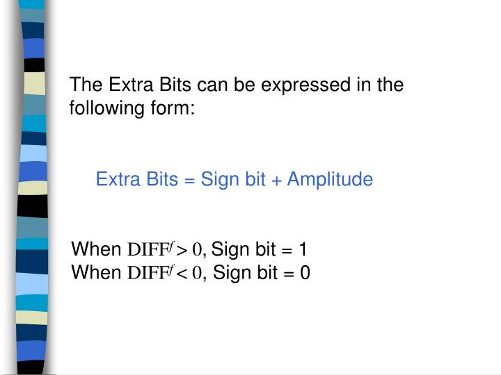 The Extra Bits can be expressed in the following form:
