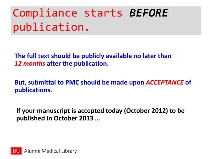 Compliance starts