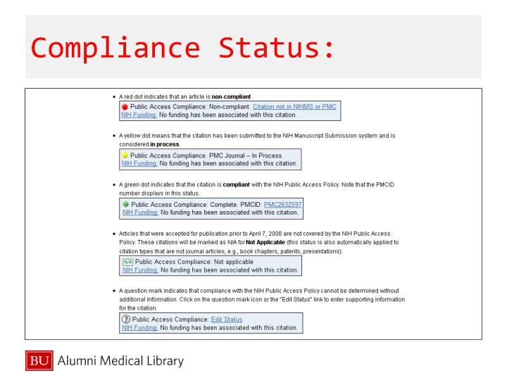 Compliance Status: