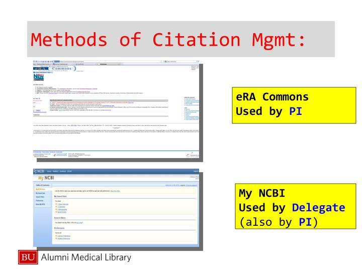 Methods of Citation