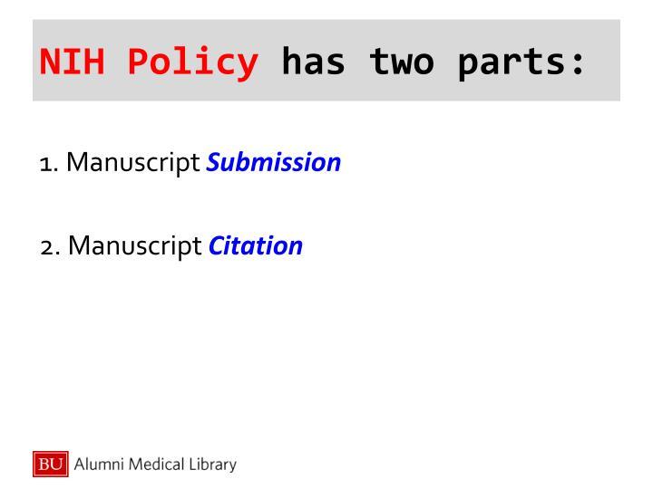 NIH Policy