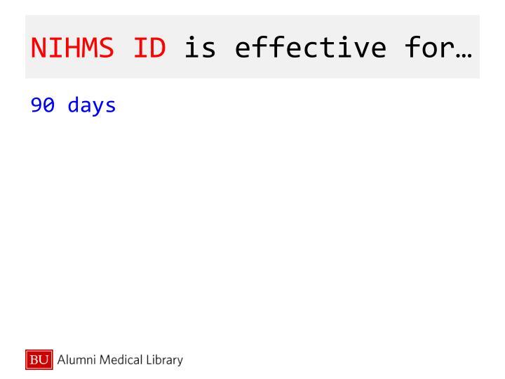 NIHMS ID