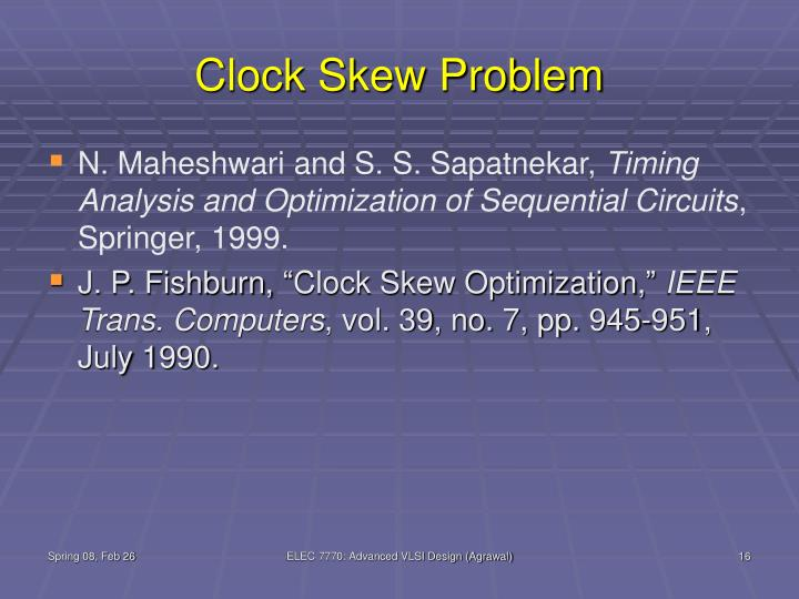 Clock Skew Problem
