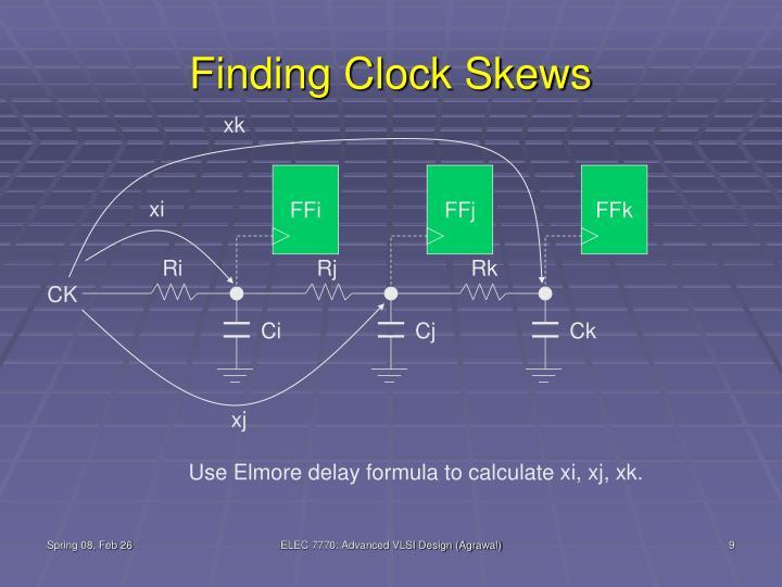 Finding Clock Skews