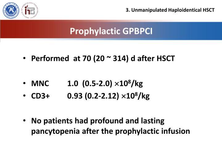 Prophylactic GPBPCI