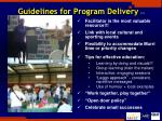 guidelines for program delivery 1