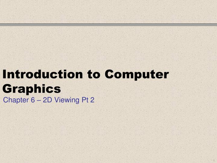 introduction to computer graphics n.