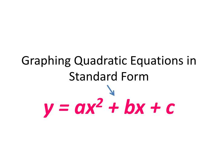 Ppt Graphing Quadratic Equations In Standard Form Powerpoint