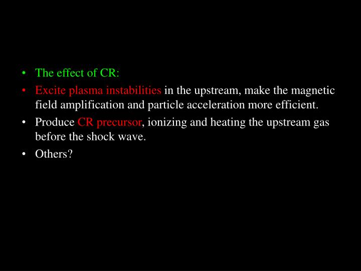 The effect of CR: