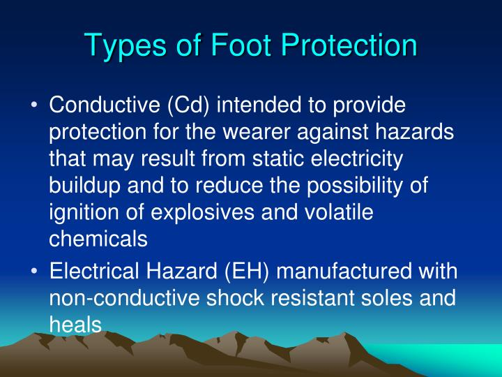 Types of Foot Protection