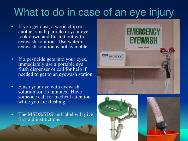 What to do in case of an eye injury