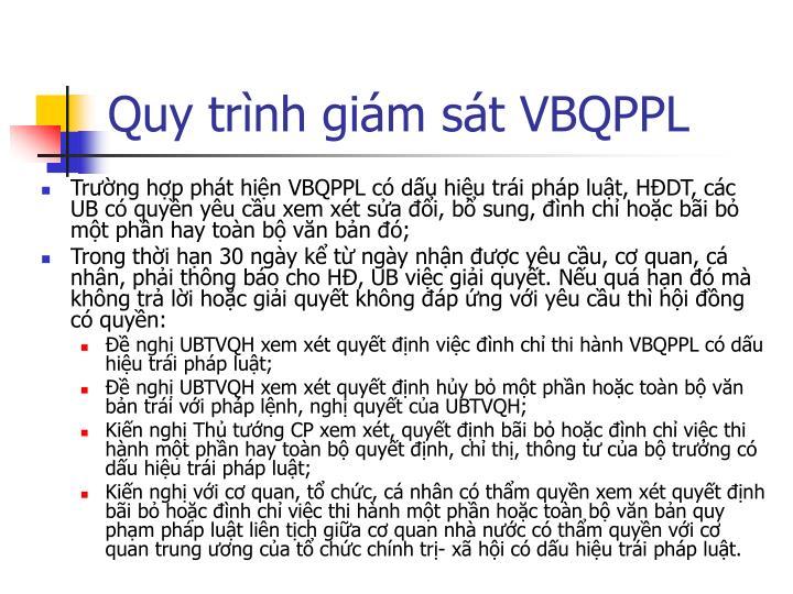 Quy trình giám sát VBQPPL
