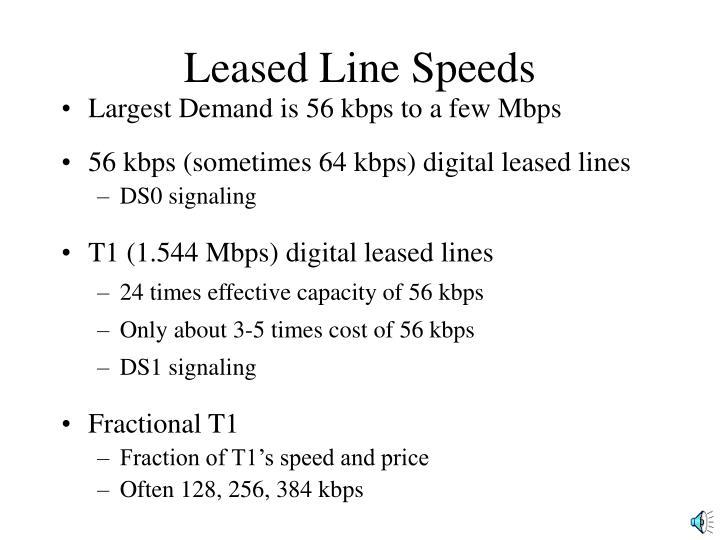Leased Line Speeds