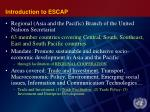 introduction to escap