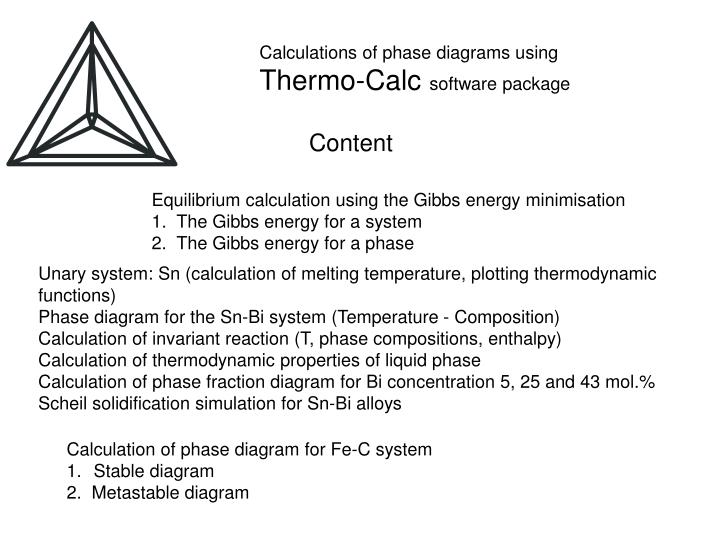 Ppt Calculations Of Phase Diagrams Using Thermo Calc Software