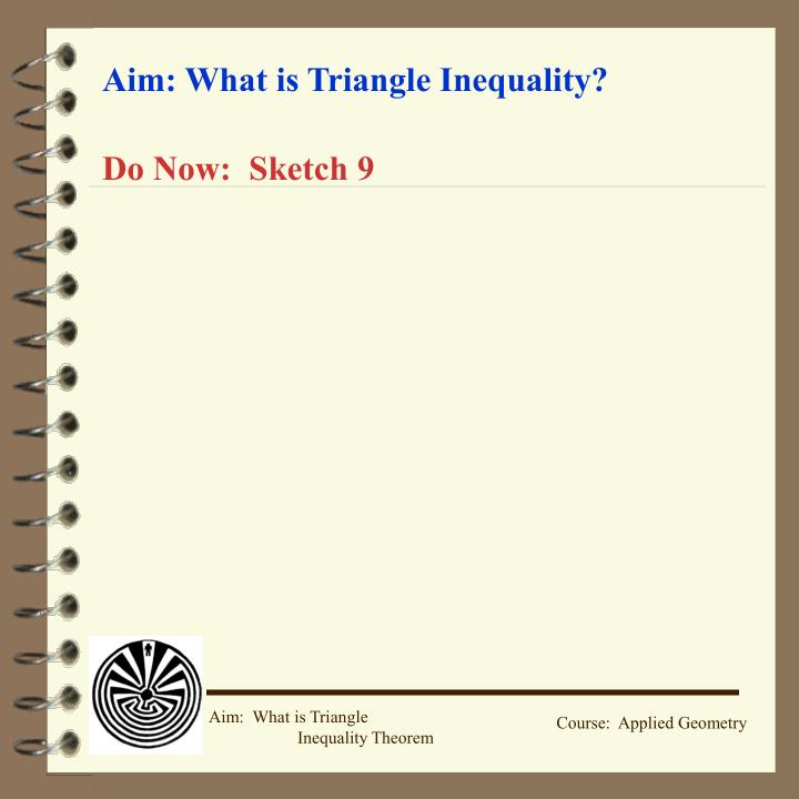 PPT Aim What Is Triangle Inequality PowerPoint