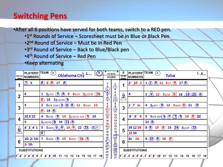 Switching Pens