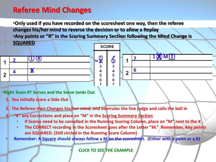 Referee Mind Changes