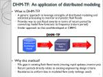 dhm tf an application of distributed modeling