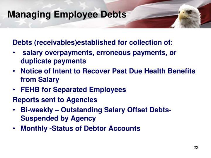 Managing Employee Debts