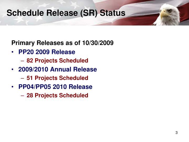 Schedule release sr status