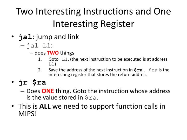 Two Interesting Instructions and One Interesting Register