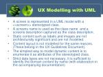 ux modelling with uml