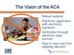 the vision of the aca