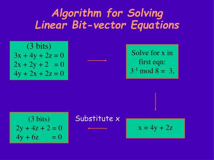 Algorithm for Solving