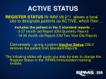 active status