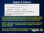 select a patient1
