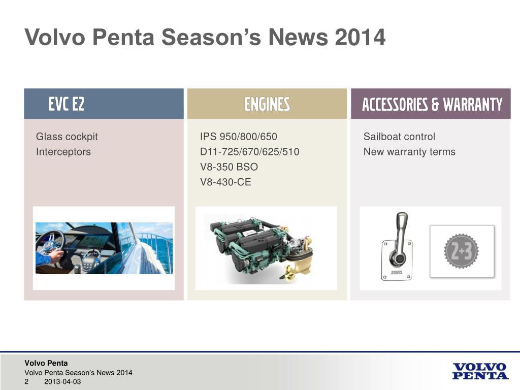 Volvo Penta Sterndrive Joystick Control System 2014 Engine Test