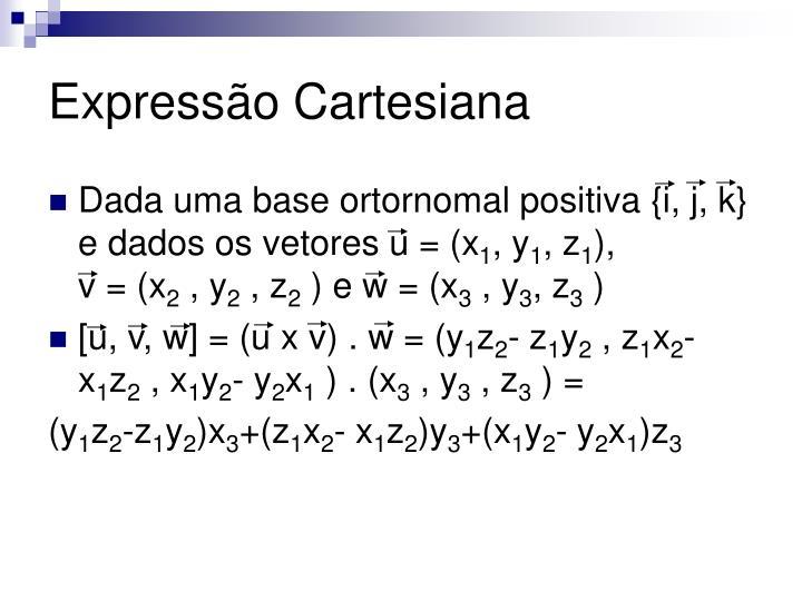 Expressão Cartesiana