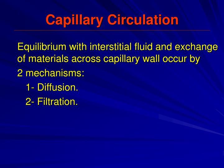 Capillary Circulation