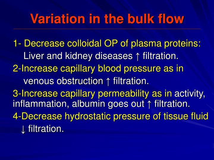 Variation in the bulk flow
