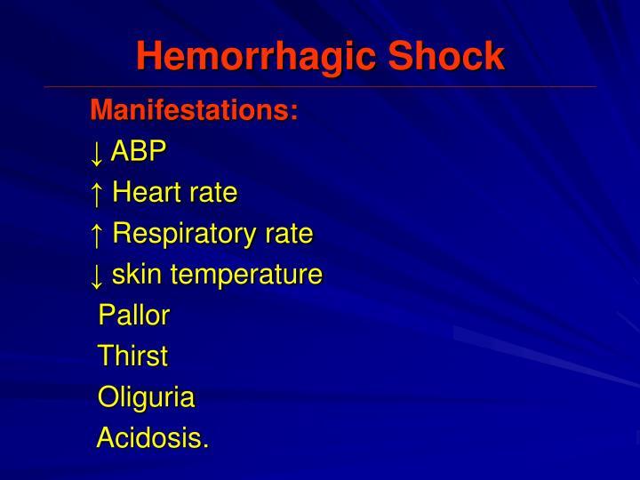 Hemorrhagic Shock