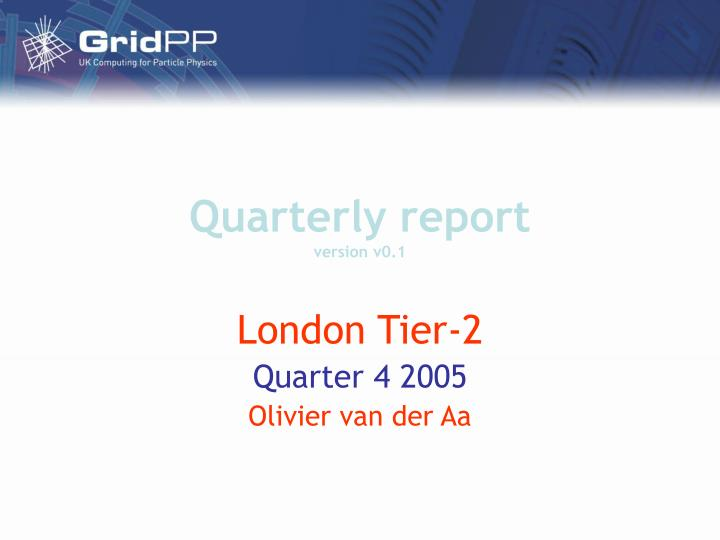 Quarterly report version v0 1